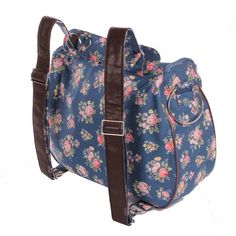 Minene Layla – Bolso cambiador, diseño de rosas, color azul