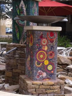 Another mosaic fountain at La Contera shopping Center in San Antonio TX