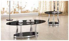 Cosmo Coffee and Lamp Table Black Gloss 2013 Range