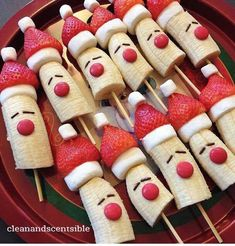 Edible Santas on Sticks.