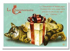 フランス製 キャットポストカード (Le Channiversaire) CPK097