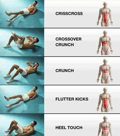 Abb workouts and what they target I just do 10 of each (2 sets)