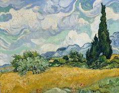 van Gogh, Vincent : Weizenfeld mit Zypressen