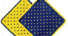 Crochet Potholders, Knit Crochet, Loom Knitting, Pot Holders, Coasters, About Me Blog, Grande, Sewing, Crocheting