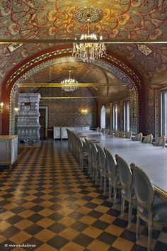 YUSUPOV PALACE (1727-1917), MOSCOW ~ dining room.  Click for more images