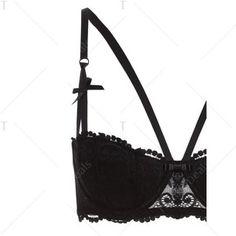 See-Through Embroidered Bra Set