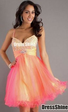 db141619bc0 Short Mini Tulle A-line Sweetheart Natural Waist Spaghetti Straps  Homecoming Dress - Prom Dresses - Special Occasion Dresses