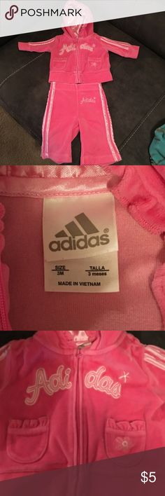 Adidas Infant Tracksuit Very good condition! Both are super comfortable, just in time for fall/winter. No signs of wear at all 💕 adidas Matching Sets