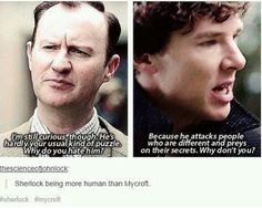 No one said Mycroft was human