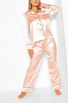 Details about  /Ladies Purple Floral Satin Pajama PJs Pyjamas Set Size 12 14 16 18