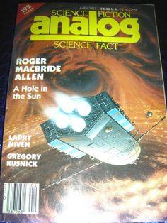 SCIENCE FICTION ANALOG MAGAZINE APRIL1987 ~ ROGER MACBRIDE ALLEN , NIVEN