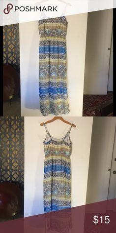 TRIBAL MAXI DRESS NWOT tribal print sleeveless beautiful maxi dress , NWOT Old Navy Dresses Maxi