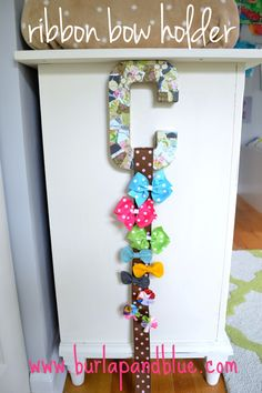 b+b bow holder ribbon bow holder {a tutorial}