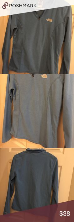 Women's North Face Fleece jacket S Light blue fleece 1/4 zip fleece  Size S North Face Jackets & Coats