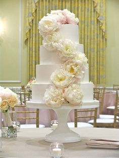 Peony cake by Ashley Cakes #wedding