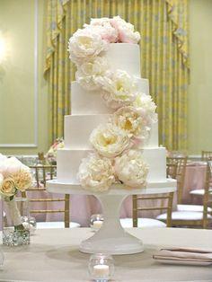 gorgeous peony cake