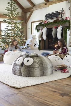 On a Winter day, nothing is cozier than lounging back in a beanbag. Plop on down with these cute critters.