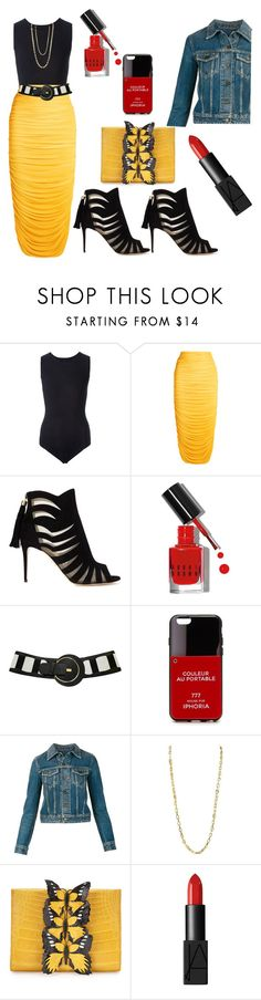 """""""Fun in the sun"""" by ellenfischerbeauty ❤ liked on Polyvore featuring Maison Margiela, Norma Kamali, Paul Andrew, Bobbi Brown Cosmetics, Iphoria, Yves Saint Laurent, Nancy Gonzalez and NARS Cosmetics"""