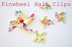 Pinwheel Hair Clips, instructions