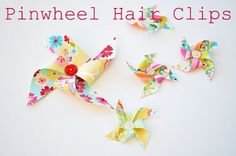 Look at these adorable hair clips!!!  Yes, summer is all but over, but I can't resist this NO SEW! project!  How much better could it be?  #themotherhuddle