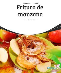 Fritura de manzana  La manzana es una fruta  que presenta varias variedades y que tiene usos medicinales, además de utilizarse para comer de postre o para hacer sidra.