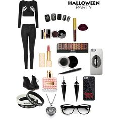 Halloween Party by keeksdosramos on Polyvore featuring polyvore, fashion, style, Topshop, Oasis, Lipsy, Tory Burch, Mary Kay and Chanel