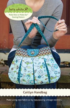 Caitlyn Handbag Sewing Pattern- I would make this with a shorter strap ..so cute!