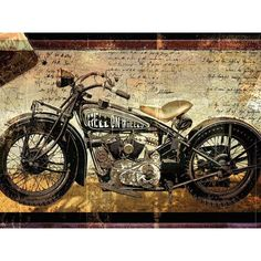 Portfolio Canvas Decor Large Printed 'Hell on Wheels' Framed Gallery-wrapped Canvas Art