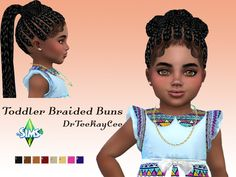 The Sims Resource: Toddler Braided Buns by drteekaycee  - Sims 4 Hairs - http://sims4hairs.com/the-sims-resource-toddler-braided-buns-by-drteekaycee/