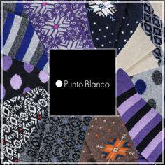 Calcetines de invierno para chicas en todos los colores de moda. Con dibujos de coos de nieve, a rayas, con topos y más en www.a-uv.es #enAuv