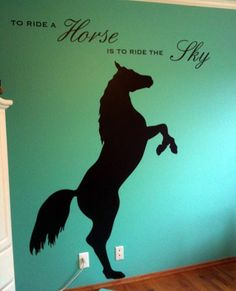 Horse Rearing Up Vinyl Wall Decal Part 73