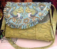 Susan Rooney Patterns Brava Bag Woodland Squirrels