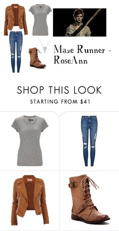"""Maze runner - RoseAnn"" by kitkat-212 ❤ liked on Polyvore featuring rag & bone, Frame Denim, Sole Society, American Eagle Outfitters and Paul Brodie"