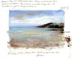 LAmanda-Hoskin Prints - Pages from the Sketchbook- The Beach at Menabilly