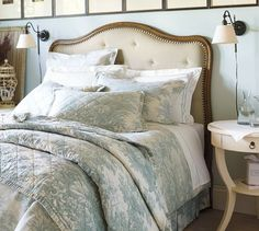 Gabriella Upholstered Headboard | Pottery Barn - StyleSays