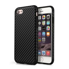 PhoneStar Schutzhülle iPhone 7 Design TPU Carbon Hülle Case - schwarz. #beaphonestar #phonestar #blackstyle #casual