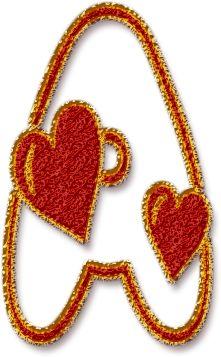 Alfabeto Decorativo: Alfabeto - Coração - PNG