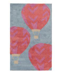 Another great find on #zulily! Pink & Blue Balloon Abigail Rug #zulilyfinds