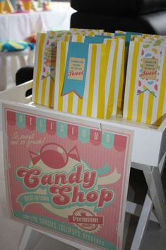 Candy Birthday Party Favors!  See more party planning ideas at CatchMyParty.com!