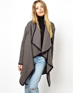 ASOS WATERFALL COAT