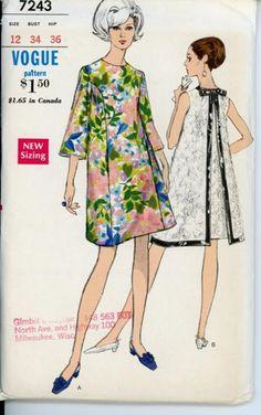1967 Vogue 7243 Misses ALine Dress Pattern by DawnsDesignBoutique, $9.99