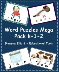 """A """"must have"""" package for tutors.  This Expanded Maga Pack includes 163 word puzzles that I have been selling in 6 separate products for Kindergarten, 1st,  and 2nd graders.  These confidence-building puzzles can be cut many ways to accommodate the needs of your students."""