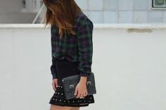 camisa-xadrez-saia-tricot-spikes-sandália-onça-clutch-kate-spade-drops-das-dez-laina-laine-5