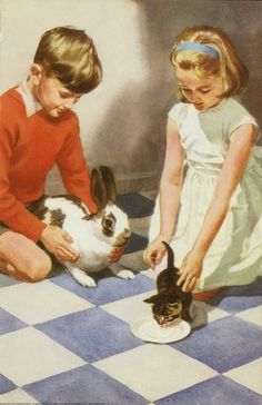 Rabbit and kitten - Peter And Jane, Things We Do