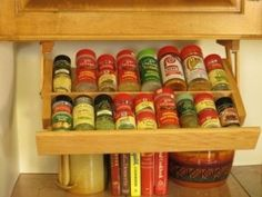 The Ultimate in Kitchen under Cabinet Storage Spice Rack Solid Wood Holder
