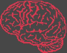 Counted Cross Stitch Kit - Brain. $15.00, via Etsy.