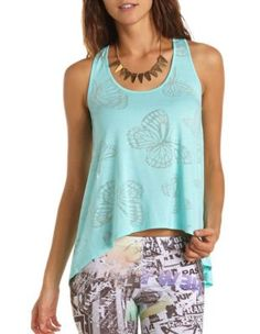 Burnout Butterfly Hi-Low Tank - perfect for yoga!