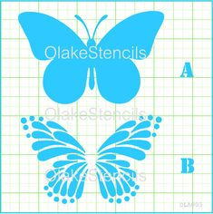 Items similar to Butterfly 2 layers stencil on Etsy Spray Paint Stencils, How To Make Stencils, Custom Stencils, Free Stencils, Stencil Templates, Wall Stencil Patterns, Stencil Painting, Fabric Painting, Stenciling