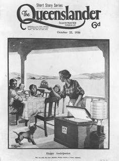 Meal time on the verandah, Queensland, 1936
