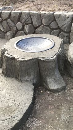 tree stump fire pit project for next summer we have the perfect stump home pinterest. Black Bedroom Furniture Sets. Home Design Ideas